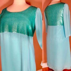 🆕 Marina Rinaldi Sequin Bell Sleeve Midi Dress XL